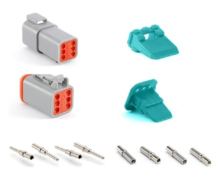 AT6PS-CKIT 6-Way Pin and Socket  Plug, Receptacle, Wedge and Contacts Kit