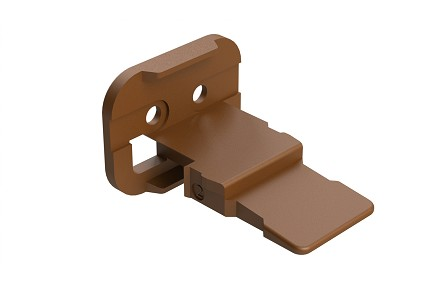 AW2S-D  2-Way Wedgelock Plug, D Key, Brown. Comparable to parts #W2SD, 934481047