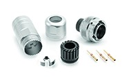RT0W61210PNH-K Plug Kit, Male, IP67 Sealed Metal Bayonet Coupling Connector Kit, Including Connector, Backshell & Contacts, 10 Contacts, Size 20, 20-30AWG, 5A/150V, Shell Size 12.  Compatible to part # UT0W61210PH