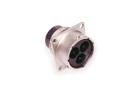 RTHP0203PNH-16C 3.6mm Square Flange Receptacle, Male, High Amperage, Crimp 3 Holes Tail, Shell Size 20